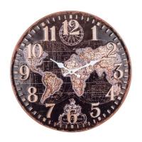 Reloj metal mapamundi